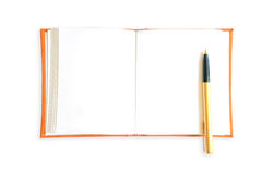 Orange book isolated Royalty Free Stock Images