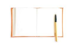 Orange book on white background. Royalty Free Stock Photography