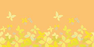Orange border with butterflies. royalty free illustration