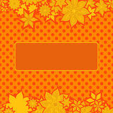 Orange border with flowers Royalty Free Stock Photography