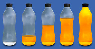 Orange Bottels Stock Image