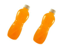 Orange Bottled fruit juice Stock Images