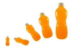Orange Bottled fruit juice Stock Photos