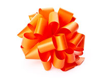 Orange bow Royalty Free Stock Photo