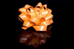 Orange Bow Stock Photography