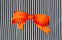 Orange bow Stock Photography