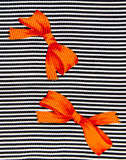 Orange bow Stock Image