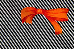 Orange bow Royalty Free Stock Photography