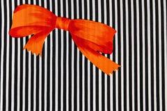 Orange bow Royalty Free Stock Photo