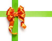 Orange bow Stock Images