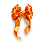 Orange bow Stock Photo