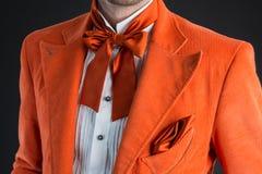 Orange bow tie Stock Photo