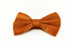 Orange bow tie isolated on white background Royalty Free Stock Photography