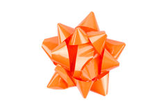 Orange Bow From Top Royalty Free Stock Images