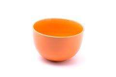 Orange bowl. Isolated with white background Royalty Free Stock Photos