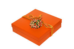 Orange box Royalty Free Stock Photos