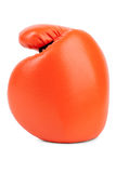 Orange boxing glove closeup Royalty Free Stock Photos