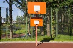 Orange bräde för två basket Arkivfoton