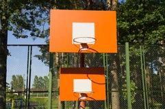 Orange bräde för två basket Fotografering för Bildbyråer