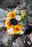 orange bröllop för bukett Royaltyfria Bilder