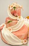 orange bröllop för cake Royaltyfria Bilder