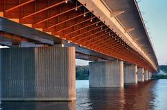 Orange Brücke Lizenzfreies Stockbild