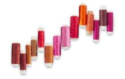 Orange, braune und rosa Schnurspulen Lizenzfreie Stockfotos