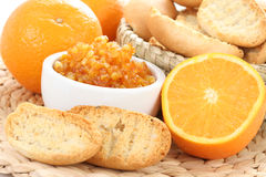 Orange breakfast Royalty Free Stock Photography