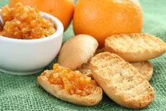 Orange breakfast Royalty Free Stock Photos