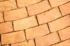 Orange brick background Royalty Free Stock Image
