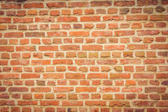 Orange brick background Royalty Free Stock Images