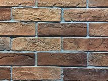 Orange brick for building a wall or home. Stock Photo
