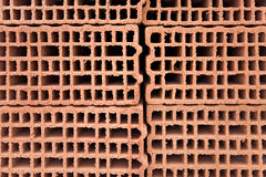 Orange brick building wall material Stock Photography