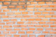 Orange brick with cement wall texture background Stock Photography