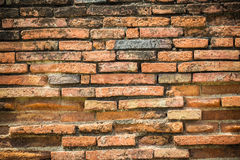 Orange brick. Orange old brick on wall texture background Royalty Free Stock Photography