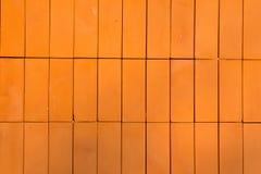 Orange brick pattern Royalty Free Stock Photos