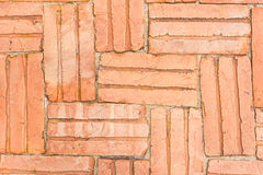 Orange brick pavement Royalty Free Stock Images
