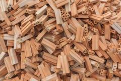 Orange brick pile Stock Image