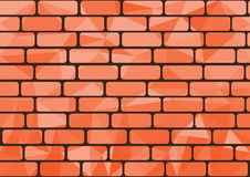 Orange brick Stock Photography