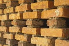 Orange brick wall Royalty Free Stock Image