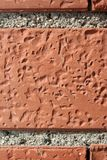 Orange Brick Wall. Brick Wall / Brown-Orange Brick Surface Stock Images