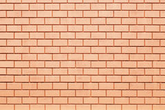 Orange brick wall Royalty Free Stock Images