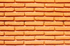 Orange brick wall background. Stock Images