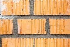 Orange brick wall background Stock Photo