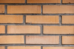Orange brick wall background close up royalty free stock photos