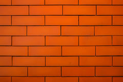 Orange brick wall background Royalty Free Stock Photos