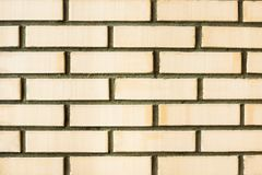 The orange brick wall background texture Stock Photo