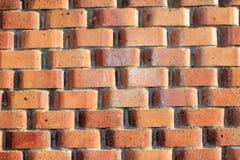 Orange brick wall. Solid Stock Image