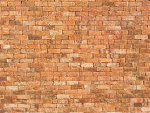 Orange brick wall Stock Photos