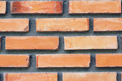 Orange brick wall texture Royalty Free Stock Photo